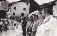 Übung anlässlich Fahrzeugweihe BLF Dodge 1974