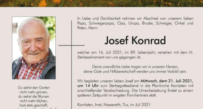 HFM Josef Konrad verstorben