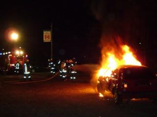 Zugsübung Fahrzeugbrand